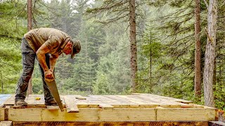 Plumbing My Off Grid Log Cabin in the Forest, Waterproofing a Root Cellar