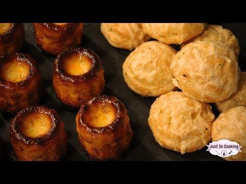2 Recettes dApéritifs : Gougères au Fromage et Cannelés Chorizo Fromage
