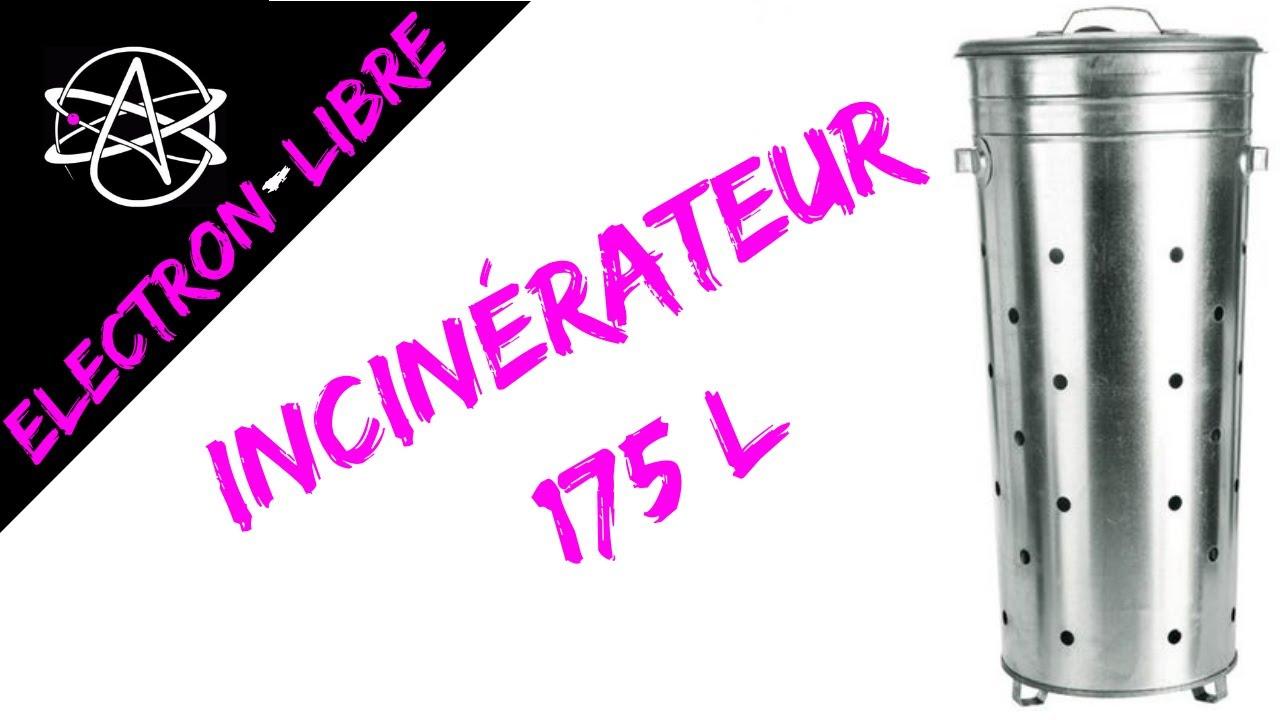 incinerateur 175l