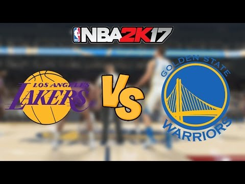 NBA 2K17 - '86-'87 Los Angeles Lakers vs. Golden State Warriors - Full Gameplay