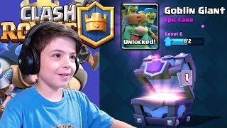 GOBLIN GIANT + LEGENDARY IN SUPER MAGICAL CHEST - Clash Royale