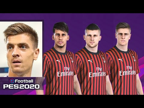 EFootball PES 2020 AC Milan Faces, Stats & Overalls | PS4
