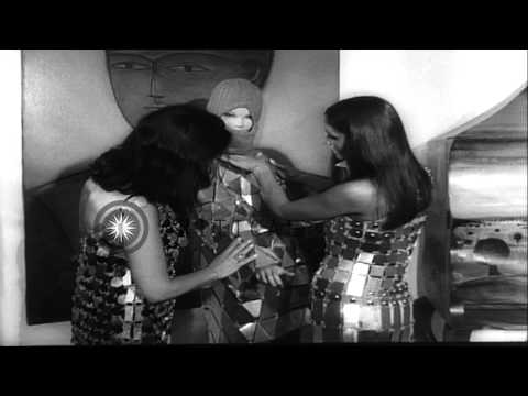 Models and mannequins display metallic clothes during a fashion show in Paris, Fr...HD Stock Footage