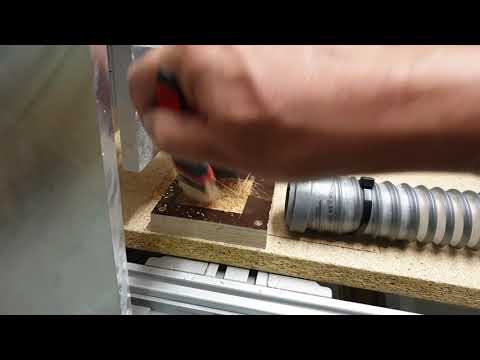DIY CNC-Fräse; Dose aus Siebdruckplatte gefräst
