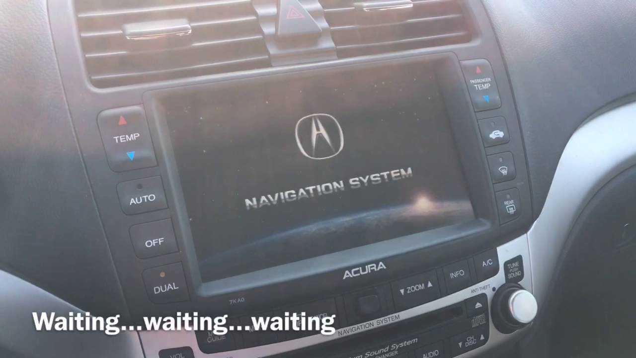 Outdated Tech At Its Worst Acura TSX NavTouchscreen YouTube - 2004 acura tsx navigation
