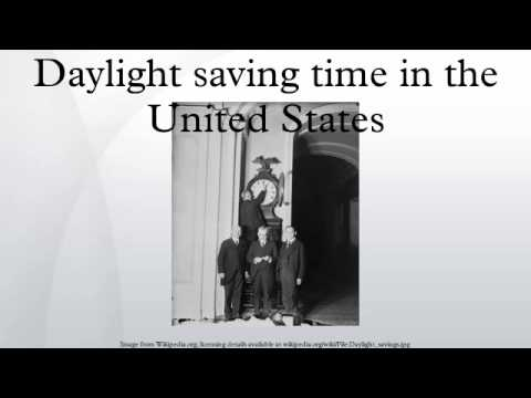 Daylight saving time in the United States