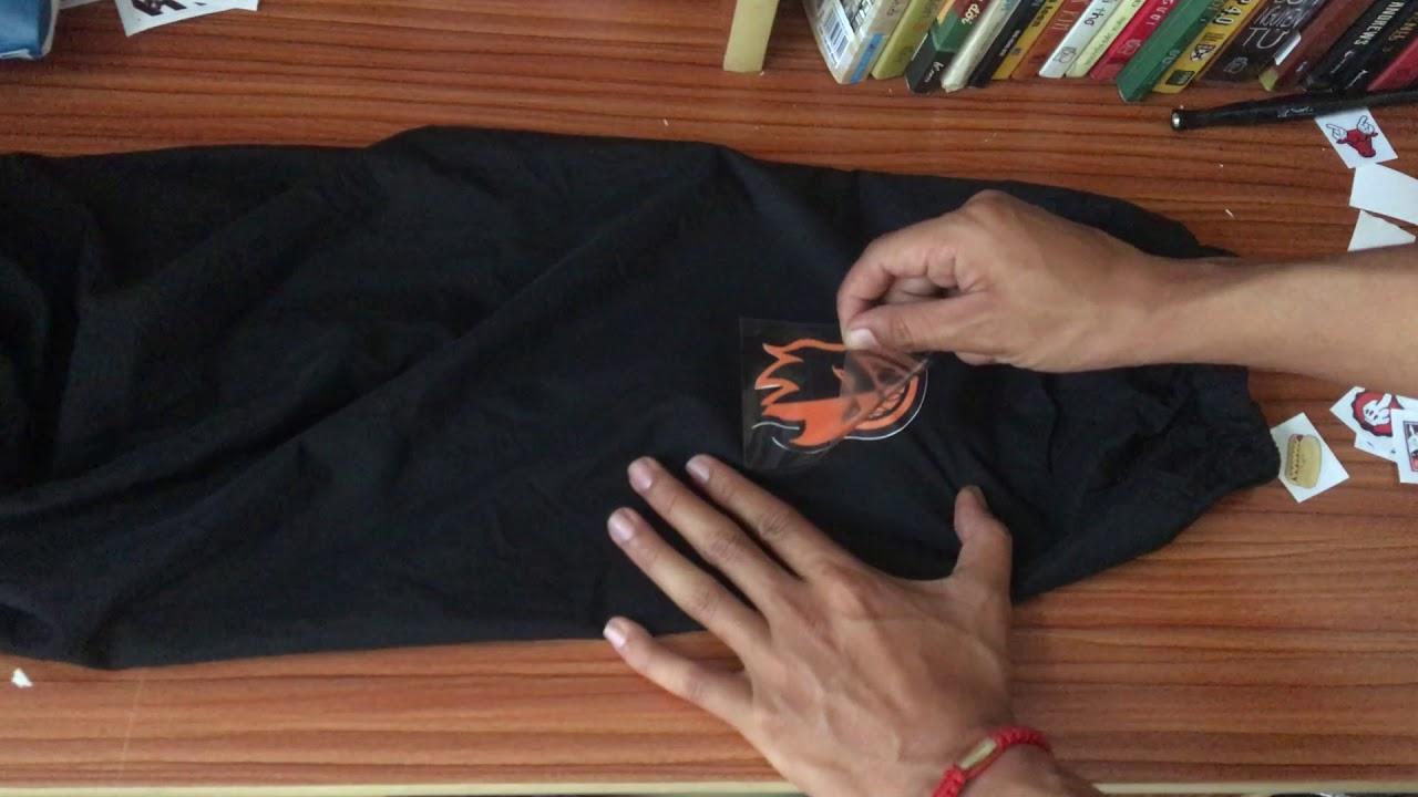Hướng dẫn In Sticker chuyển nhiệt lên áo vải dù