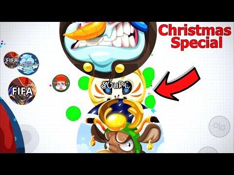 CHRISTMAS SPECIAL!!!! 74K SOLO TAKEOVER ( Agar.io Mobile) thumbnail