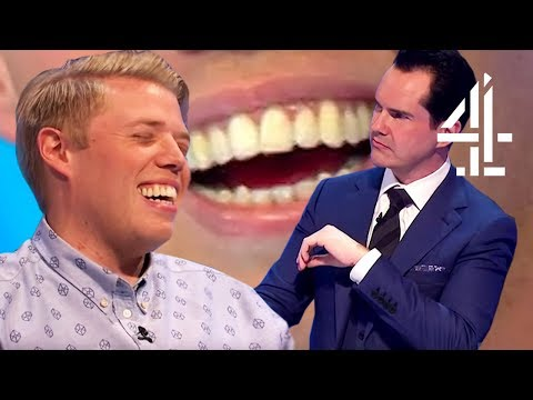 EVERY TIME JIMMY CARR MADE FUN OF ROB BECKETT'S TEETH | 8 Ou