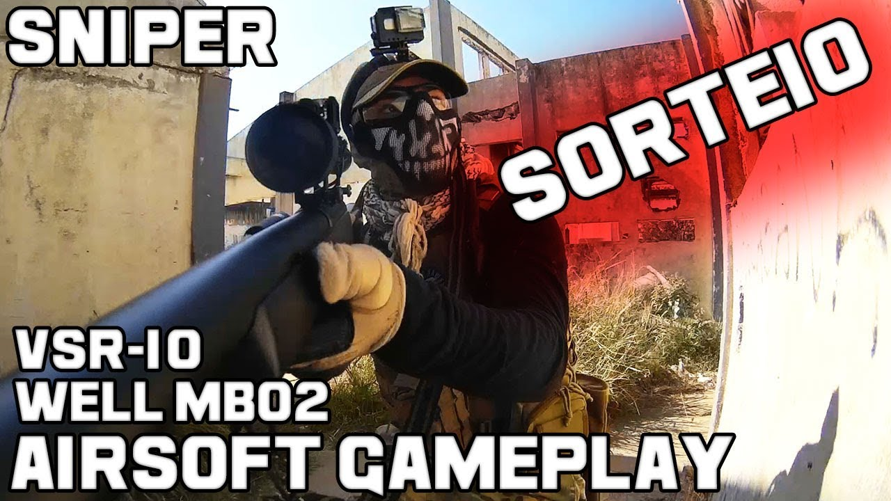Sniper Nova! | Airsoft Sniper Gameplay | Sorteio Glock G18C TAN