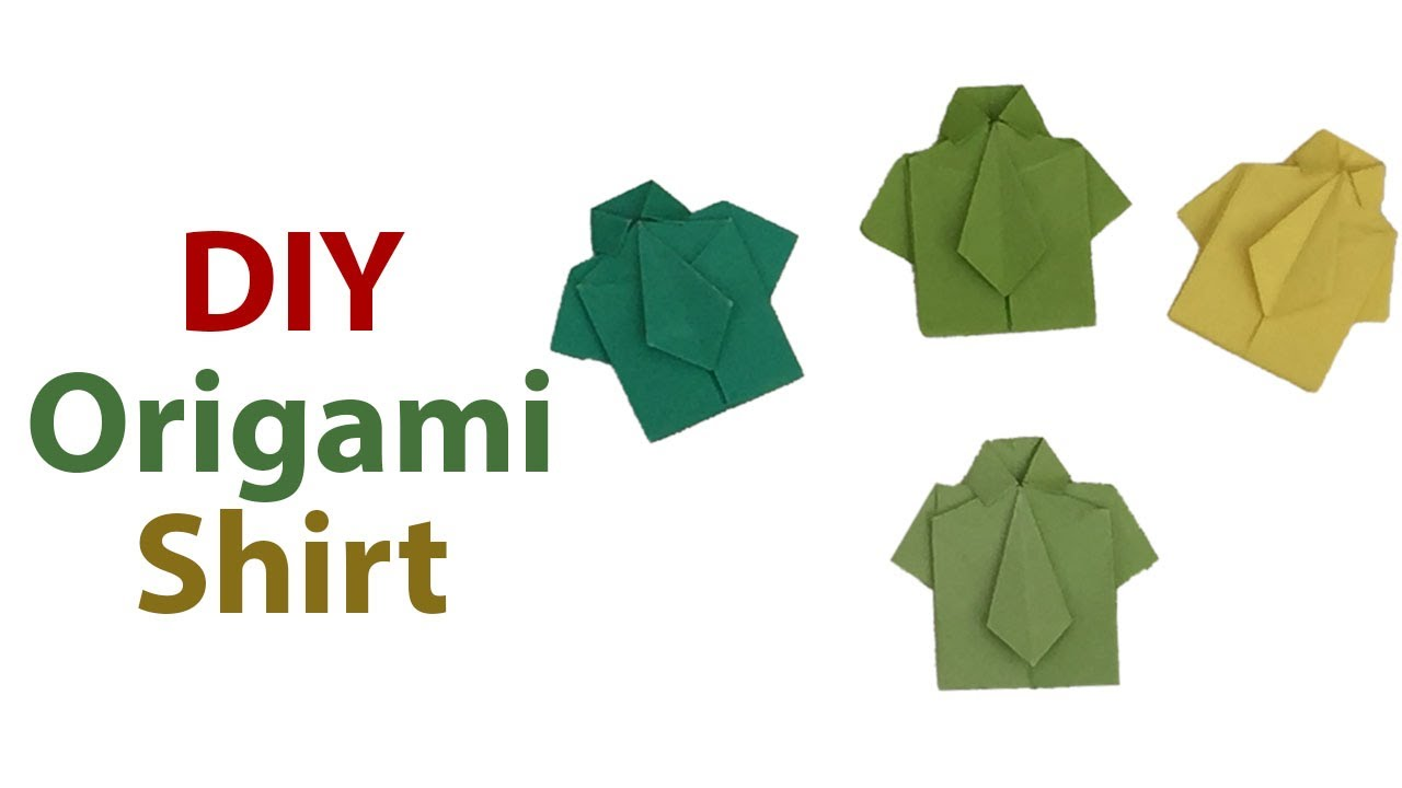 Sweet And Cute Origami Shirt With Tie