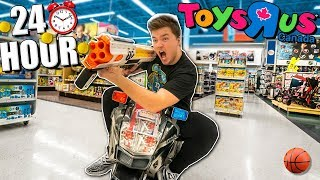 24 Hour Toys R Us Box Fort! Ultimate Toys R Us Fort With Cars, Toys & More! (part 2)