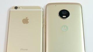 iPhone 6 vs Moto G5 Plus