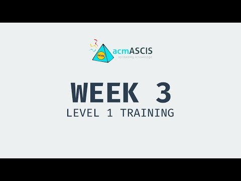 Week 3 - Level 1 Training
