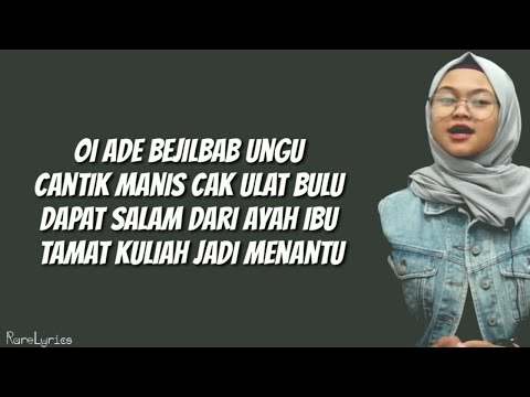 Adek Berjilbab Ungu - Cover By Dimas Gepenk (Lyrics Video)