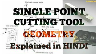 [HINDI] - SINGLE POINT CUTTING TOOL |  GEOMETRY EXPLAINED