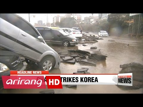 EARLY EDITION 18:00 Typhoon Chaba strikes southern Korea, before moving to East Sea
