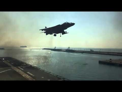 LHD Juan Carlos I, Harrier vertical launch