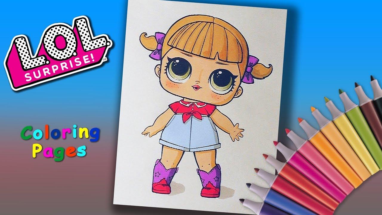 lol surprise doll coloring book line dancer coloring pages