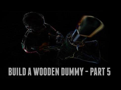 DIY Mook Jong Wooden Dummy - Mobile Freestanding Gravity Design, Part Five