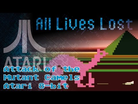 Attack of the Mutant Camels (Atari 8-bit) - ALL LIVES LOST
