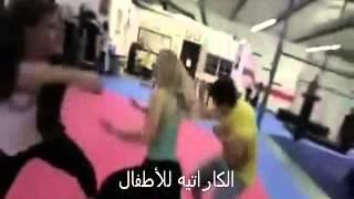 إمرأة شرسة تضرب 7 رجال وتتغلب عليهم
