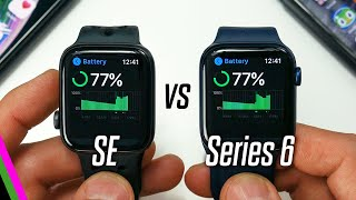 Comparing the battery life on apple watch se vs series 6 for gps, sleep tracking w/ spo2, always-on display, and more. plus, tips tricks to get m...