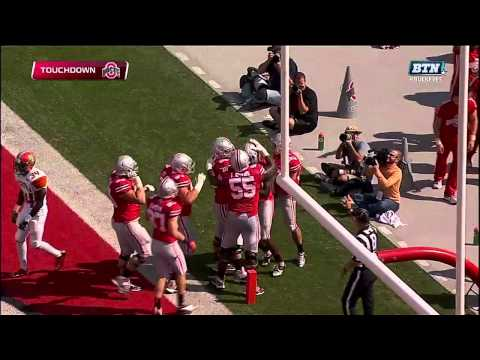 Cardale Jones Scores from 10 Yards Out