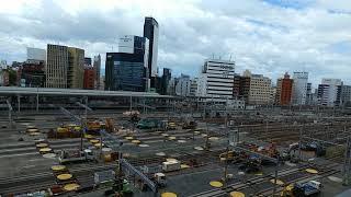 リニア中央新幹線の工事に備えるためのJR名古屋駅構内の在来線ホームの撤去作業工事 2019.6.16