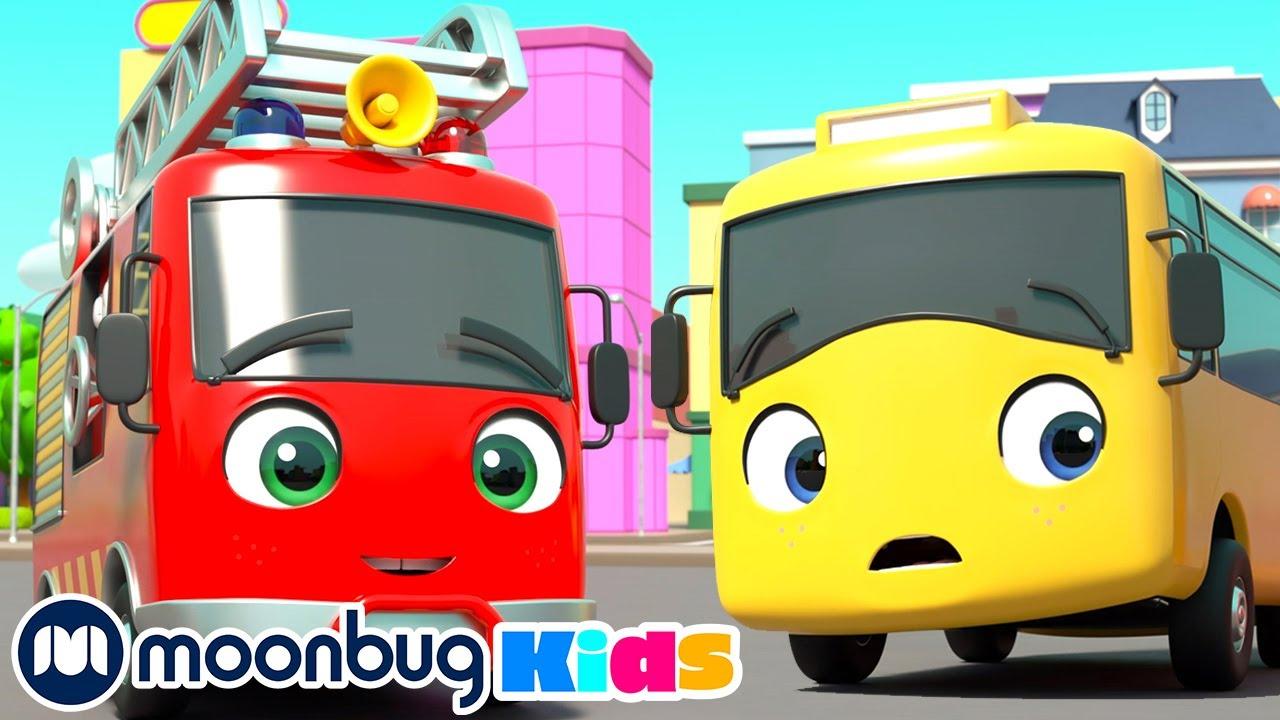 New Kid in School - Making Friends!   Go Buster Cartoons & Baby Videos   Moonbug Kids