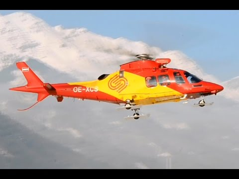 Agusta Westland AW109 SP, Robin 3 landing to Innsbruck heliport