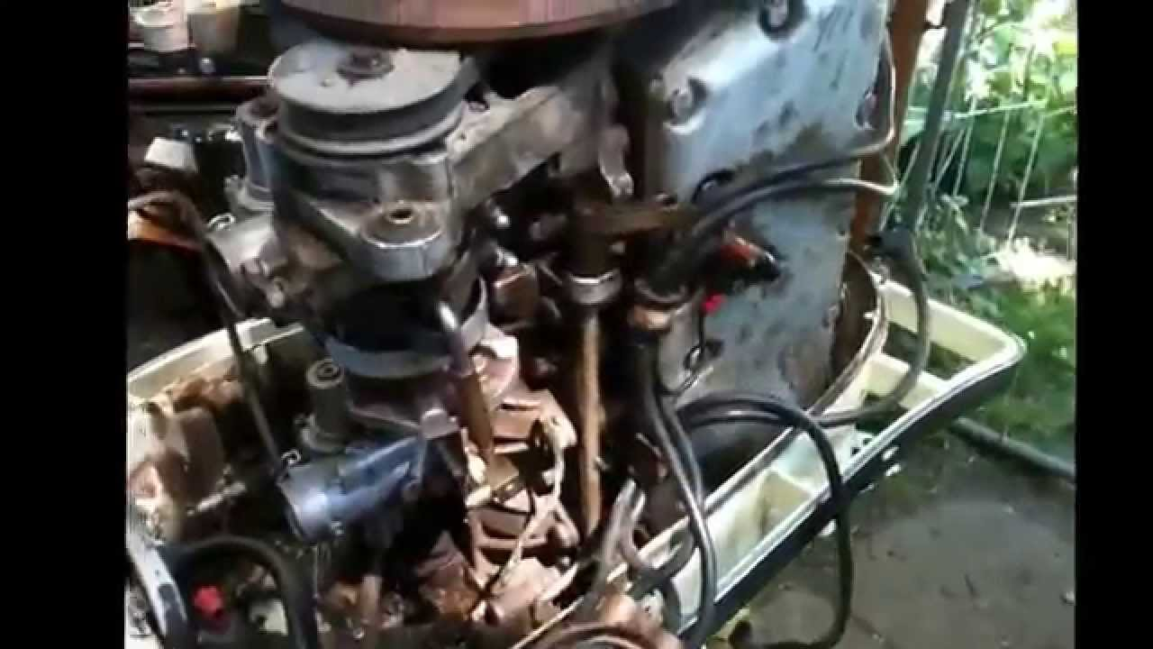 11 Hp Honda Wiring Diagram Old Mercury 45 Hp Outboard Carb Removal Youtube