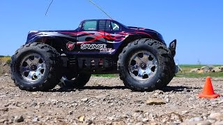RC ADVENTURES - 6s Lipo HPi Savage Flux HP Monster Truck / New Track Testing!
