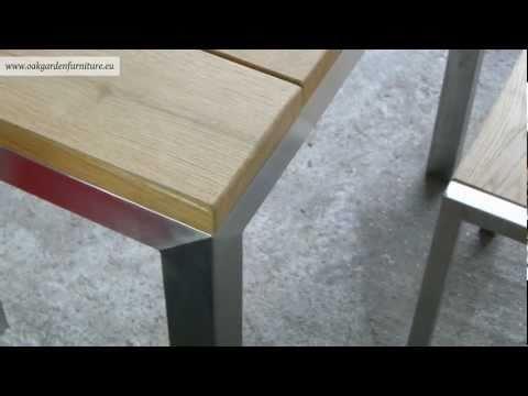Metal garden furniture set