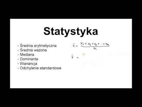Lekcja 20 - Statystyka: mediana, dominanta, wariancja, średnia ważona, odchylenie stand
