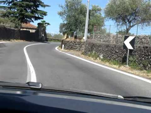 Driving through some country roads  on the northern side of Mount Etna, Sicily