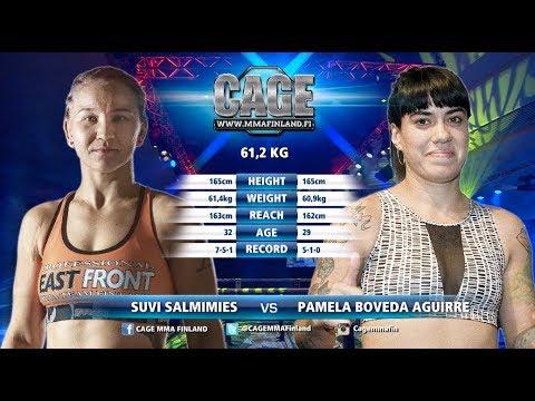 CAGE42Suvi Salmimies vs Pamela Boveda Aguirre Full Fight MMA