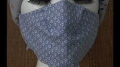 Masque CHU sans couture verticale, Patron simple gratuit sur mon site WEB
