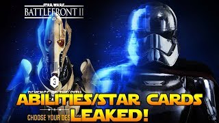 Battlefront 2- GENERAL GRIEVOUS and CAPTAIN PHASMA Abilities/Star Cards LEAKED!