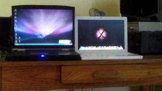 2008 Macbook VS. Gateway W730-K8X Startup Test