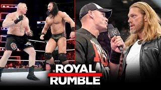 WWE Royal Rumble 2020 - John Cena Vs Edge RETURNS, Brock Lesnar Vs Drew McIntyre Highlights