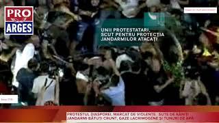 PROTEST DIASPORA. O FEMEIE JANDARM BĂTUTĂ CU BESTIALITATE DE ZECI DE PROTESTATARI