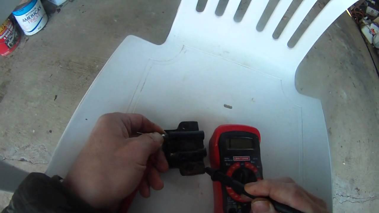 spark plug coil testing - Johnson 90 hp outboard - YouTube