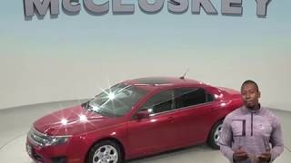 A98504GT Used 2010 Ford Fusion SE FWD 4D Sedan Red Test Drive, Review, For Sale -
