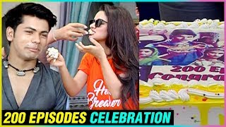 Avneet Kaur Siddharth Nigam Cake Cutting Celebrations For 200 Episodes Completion