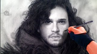 Epic Jon Snow / Game of Thrones Art Drawing Video with Cinematic Music