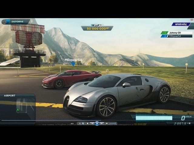 bugatti veyron ss vs koenigsegg agera r (drag race) most wanted 2012