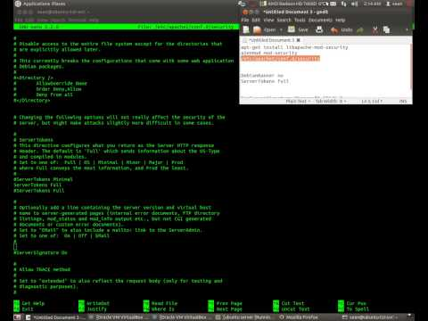 Masking Apache banner and SSH banner with MOD_SECURITY