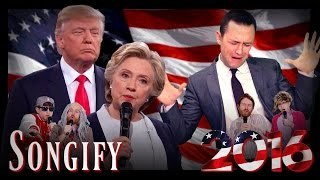 Repeat youtube video TRUMP CLINTON FACE OFF (ft. Joseph Gordon-Levitt)