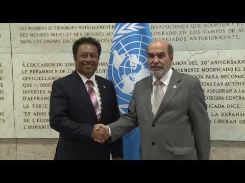 Interview with the President of Palau at FAO
